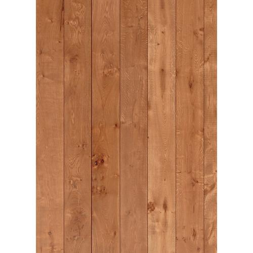 Westcott Wood Planks Art Canvas Backdrop with Grommets (5 x 7', Oak)