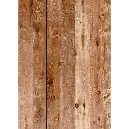 Westcott Wood Planks Pattern Matte Vinyl Backdrop with Grommets (5 x 7', Maple)