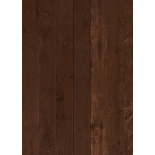 Westcott Wood Planks Pattern Matte Vinyl Backdrop with Grommets (5 x 7', Mocha)