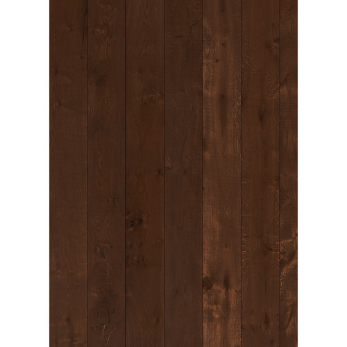 Westcott Wood Planks Pattern Matte Vinyl Backdrop with Grommets (5 x 7', Mocha)