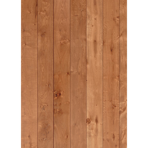 Westcott Wood Planks Pattern Matte Vinyl Backdrop with Grommets (5 x 7', Oak)