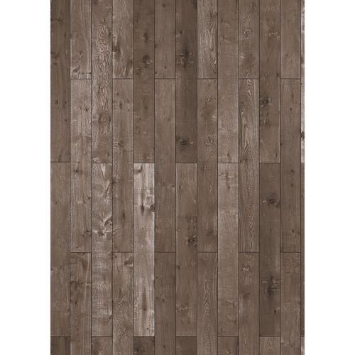 Westcott Western Wood Pattern Matte Vinyl Backdrop with Grommets (5 x 7', Rich Brown)