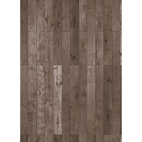 Westcott Western Wood Pattern Matte Vinyl Backdrop with Grommets (5 x 7', Rich Brown)