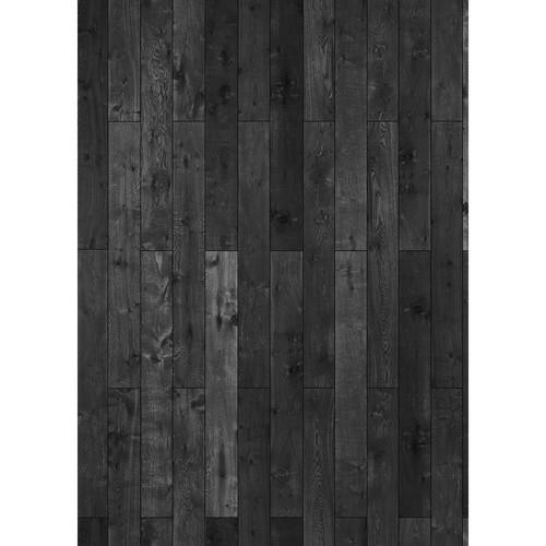 Westcott Western Wood Pattern Matte Vinyl Backdrop with Grommets (5 x 7', Rich Gray)