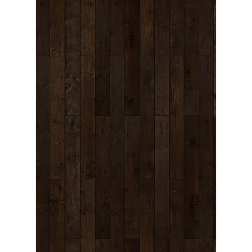 Westcott Western Wood Art Canvas Backdrop with Grommets (5 x 7', Walnut)