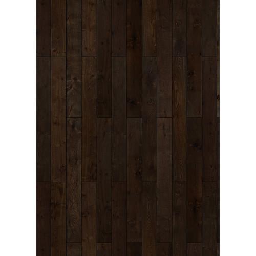 Westcott Western Wood Pattern Matte Vinyl Backdrop with Grommets (5 x 7', Walnut)