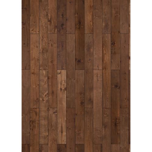 Westcott Western Wood Pattern Matte Vinyl Backdrop with Grommets (5 x 7', Maple)