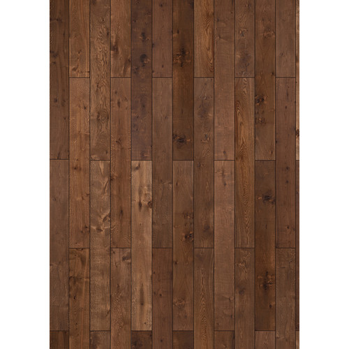 Westcott Western Wood Pattern Matte Vinyl Backdrop with Grommets (5 x 7', Maple)