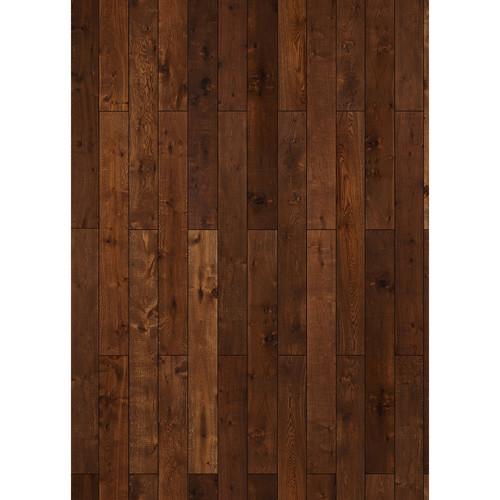 Westcott Western Wood Pattern Matte Vinyl Backdrop with Grommets (5 x 7', Orange)