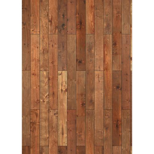 Westcott Western Wood Pattern Matte Vinyl Backdrop with Grommets (5 x 7', Oak)