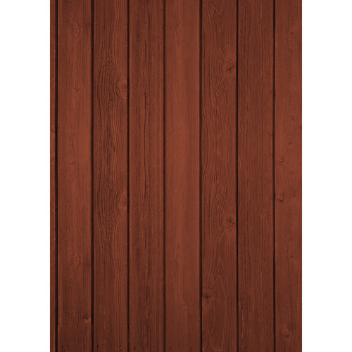 Westcott Vertical Wood Art Canvas Backdrop with Grommets (5 x 7', Cherry)