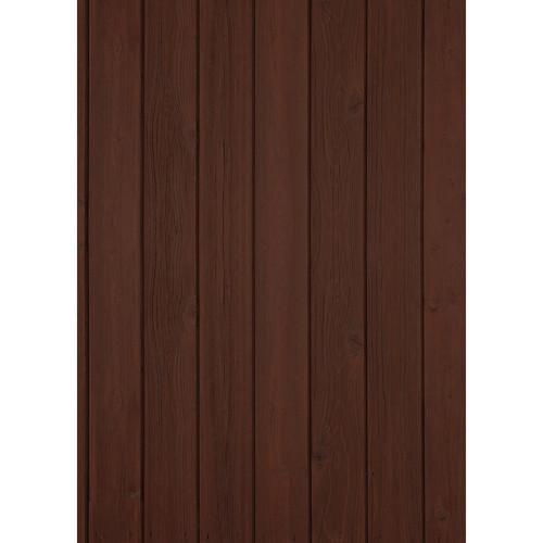 Westcott Vertical Wood Art Canvas Backdrop with Grommets (5 x 7', Walnut)