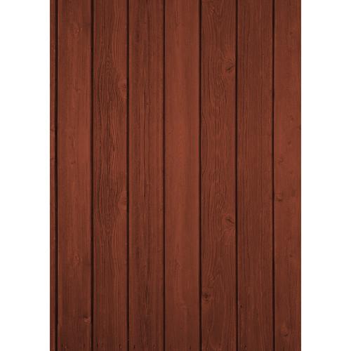 Westcott Vertical Wood Matte Vinyl Backdrop with Grommets (5 x 7', Cherry)