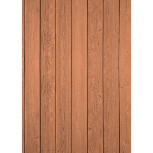Westcott Vertical Wood Matte Vinyl Backdrop with Grommets (5 x 7', Light Oak)