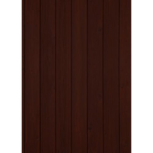 Westcott Vertical Wood Matte Vinyl Backdrop with Grommets (5 x 7', Mocha)