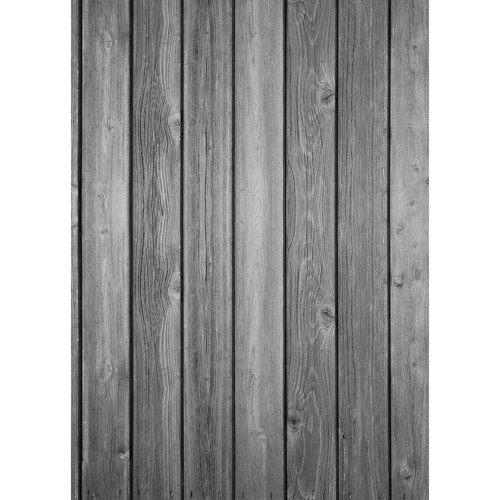 Westcott Vertical Wood Art Canvas Backdrop with Grommets (5 x 7', Bright Gray)