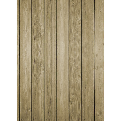 Westcott Vertical Wood Matte Vinyl Backdrop with Grommets (5 x 7', Bright Brown)