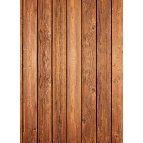 Westcott Vertical Wood Matte Vinyl Backdrop with Grommets (5 x 7', Bright Mocha)