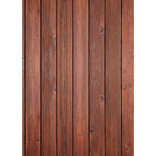 Westcott Vertical Wood Art Canvas Backdrop with Grommets (5 x 7', Rich Brown)
