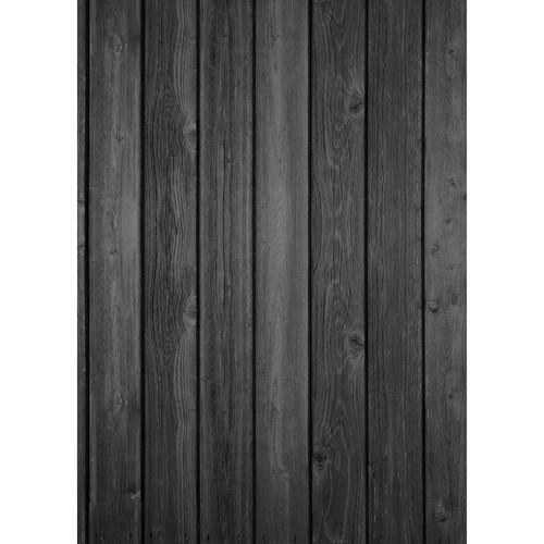 Westcott Vertical Wood Matte Vinyl Backdrop with Grommets (5 x 7', Rich Gray)