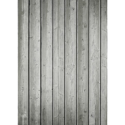 Westcott Narrow Planks Art Canvas Backdrop with Grommets (5 x 7', Light Gray)