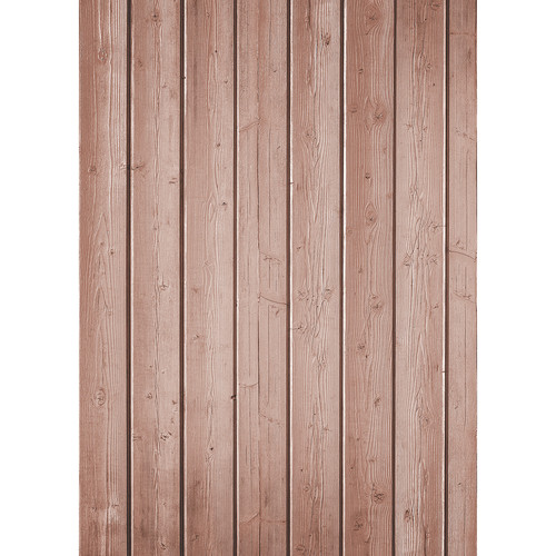 Westcott Narrow Planks Art Canvas Backdrop with Grommets (5 x 7', Light Red)