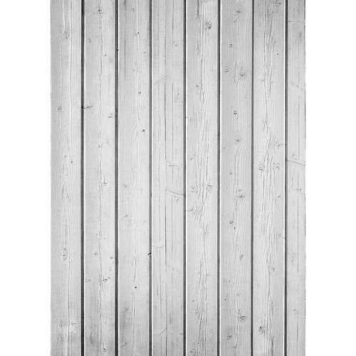 Westcott Narrow Planks Art Canvas Backdrop with Grommets (5 x 7', Light White)