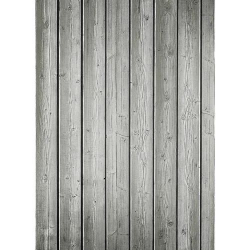 Westcott Narrow Planks Pattern Matte Vinyl Backdrop with Grommets (5 x 7', Light Gray)