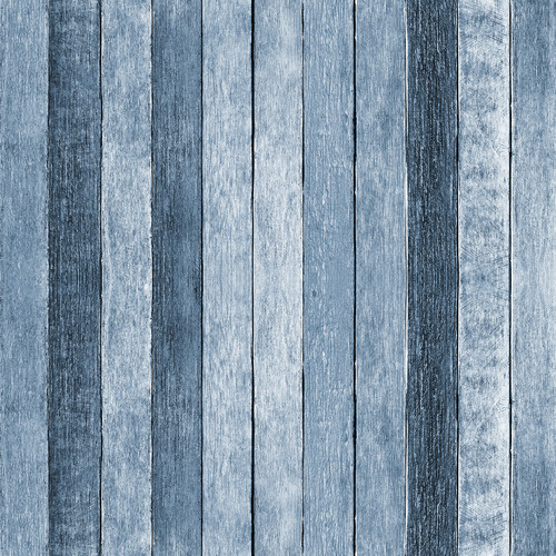 Westcott Rustic Wood Pattern Art Canvas Backdrop with Hook-and-Loop Attachment (3.5 x 3.5', Blue)