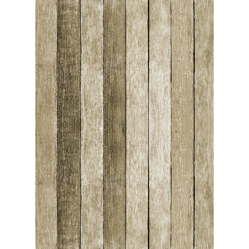 Westcott Rustic Wood Art Canvas Backdrop with Grommets (5 x 7', Brown)