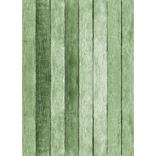 Westcott Rustic Wood Art Canvas Backdrop with Grommets (5 x 7', Green)