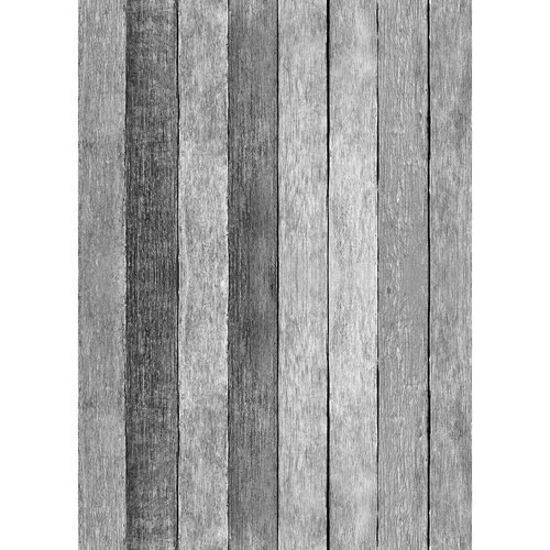 Westcott Rustic Wood Art Canvas Backdrop with Grommets (5 x 7', Gray)