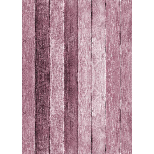 Westcott Rustic Wood Art Canvas Backdrop with Grommets (5 x 7', Pink)