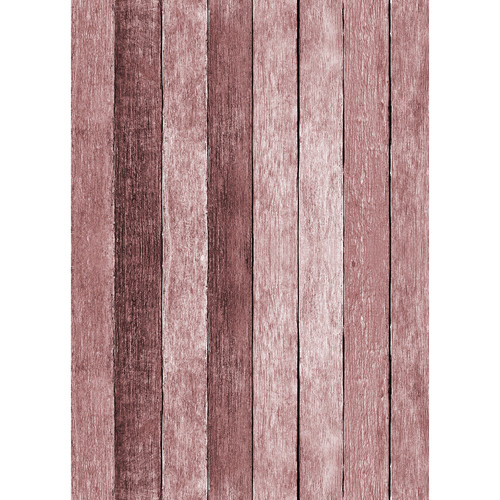 Westcott Rustic Wood Art Canvas Backdrop with Grommets (5 x 7', Red)