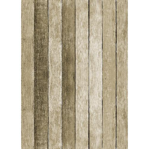 Westcott Rustic Wood Matte Vinyl Backdrop with Grommets (5 x 7', Brown)