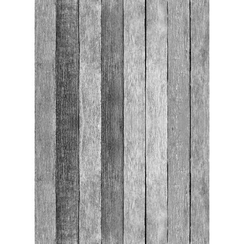 Westcott Rustic Wood Matte Vinyl Backdrop with Grommets (5 x 7', Gray)