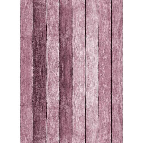 Westcott Rustic Wood Matte Vinyl Backdrop with Grommets (5 x 7', Pink)