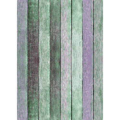 Westcott Rustic Wood Art Canvas Backdrop with Grommets (5 x 7', Vintage Turquoise)
