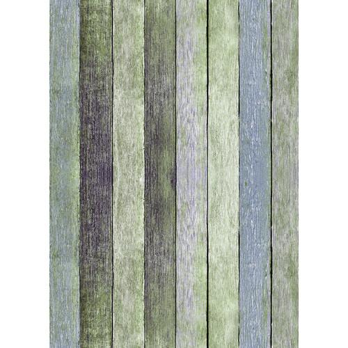 Westcott Rustic Wood Art Canvas Backdrop with Grommets (5 x 7', Vintage Green)