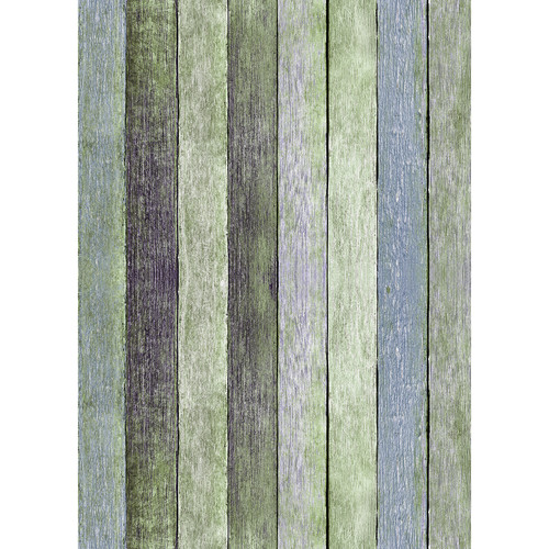 Westcott Rustic Wood Art Canvas Backdrop with Grommets (5 x 7', Vintage Green)