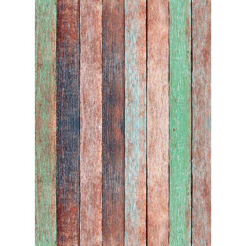 Westcott Rustic Wood Art Canvas Backdrop with Grommets (5 x 7', Vintage Orange)