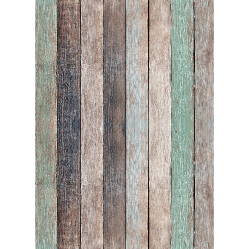 Westcott Rustic Wood Matte Vinyl Backdrop with Grommets (5 x 7', Vintage Brown)
