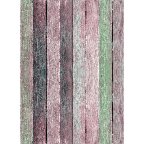 Westcott Rustic Wood Matte Vinyl Backdrop with Grommets (5 x 7', Vintage Pink)