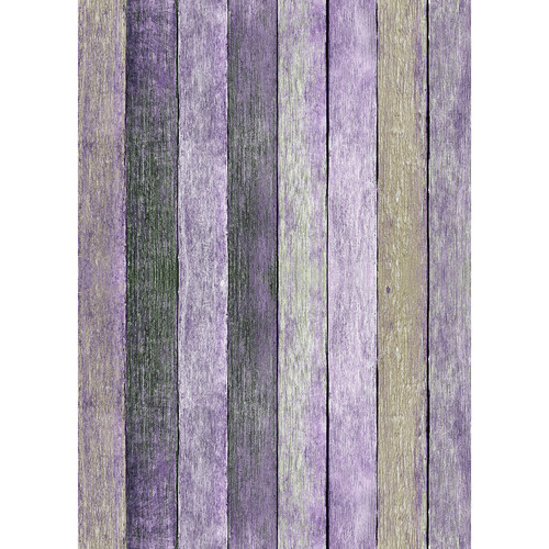 Westcott Rustic Wood Matte Vinyl Backdrop with Grommets (5 x 7', Vintage Purple)