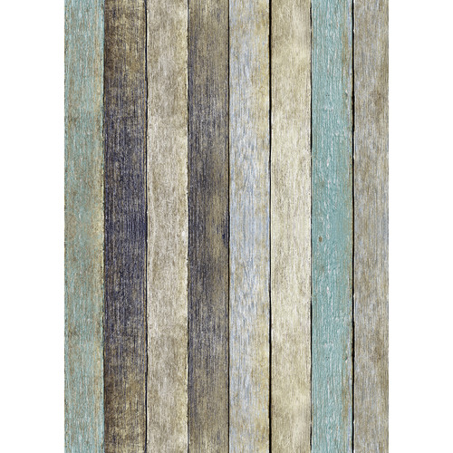 Westcott Rustic Wood Matte Vinyl Backdrop with Grommets (5 x 7', Vintage Yellow)