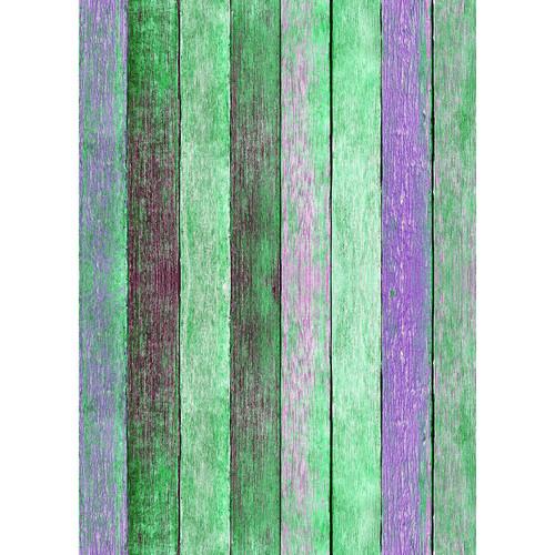 Westcott Rustic Wood Art Canvas Backdrop with Grommets (5 x 7', Bold Green)