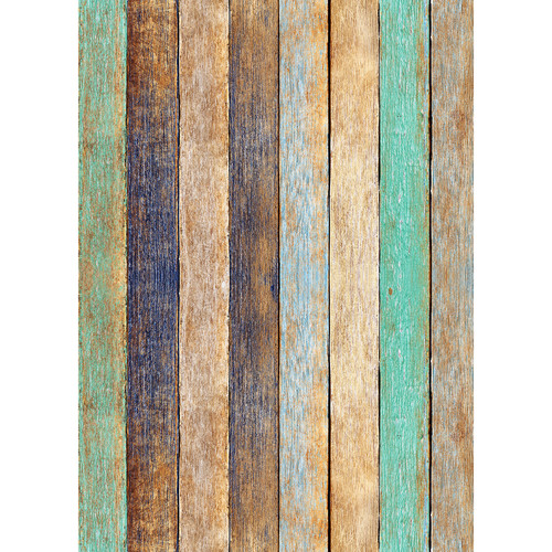 Westcott Rustic Wood Art Canvas Backdrop with Grommets (5 x 7', Bold Peach)