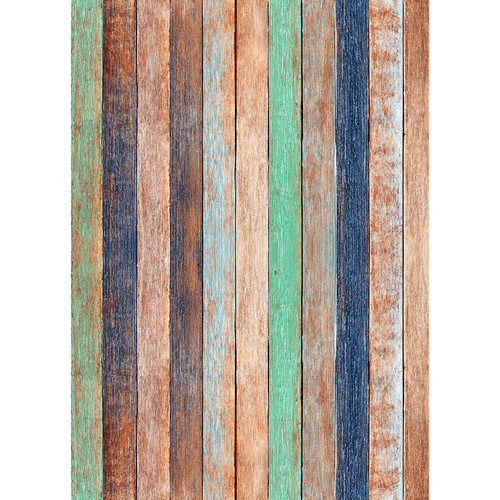 Westcott Rustic Wood Art Canvas Backdrop with Grommets (5 x 7', Bold Orange)