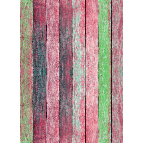 Westcott Rustic Wood Art Canvas Backdrop with Grommets (5 x 7', Bold Red)