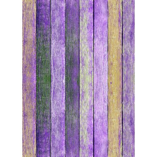 Westcott Rustic Wood Art Canvas Backdrop with Grommets (5 x 7', Bold Purple)